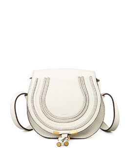 Chloe Marcie Small Satchel Bag, Off White