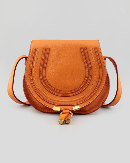 Marcie Small Crossbody Satchel Bag, Orange