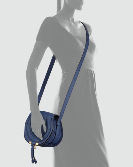 Marcie Small Crossbody Satchel Bag, Navy
