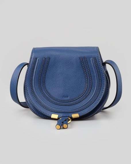 Marcie Small Crossbody Satchel Bag, Navy
