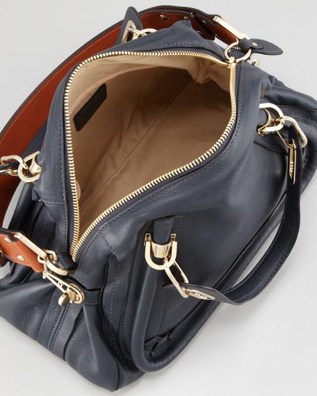 Paraty Medium Military Shoulder Bag, Dark Blue