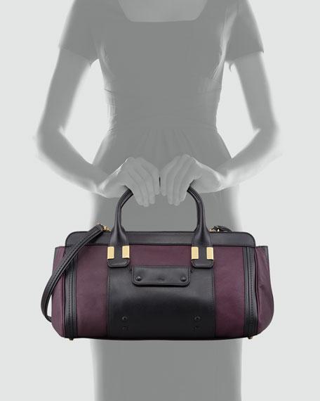 Alice Medium Patchwork Shoulder Bag, Purple