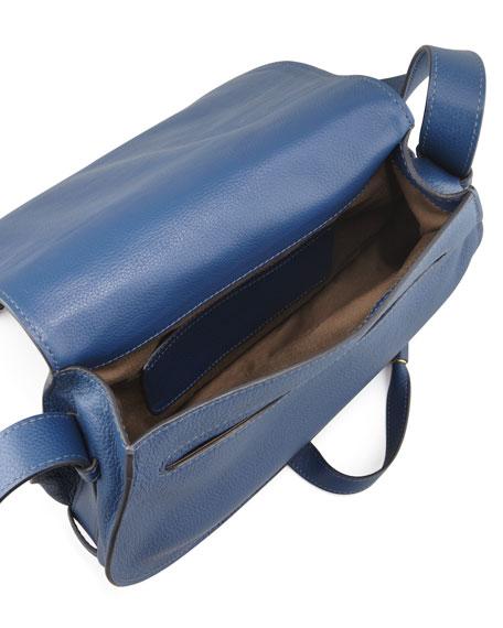 Marcie Medium Leather Crossbody Bag, Navy