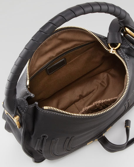 Marcie Medium Hobo Bag, Black