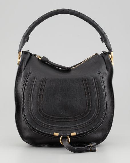 Marcie Medium Hobo Bag, Black