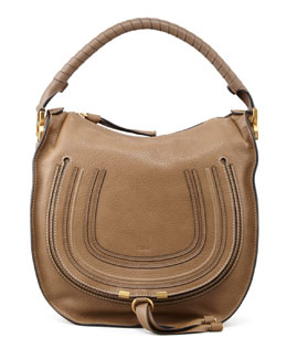 Chloe Marcie Medium Hobo Bag, Tan