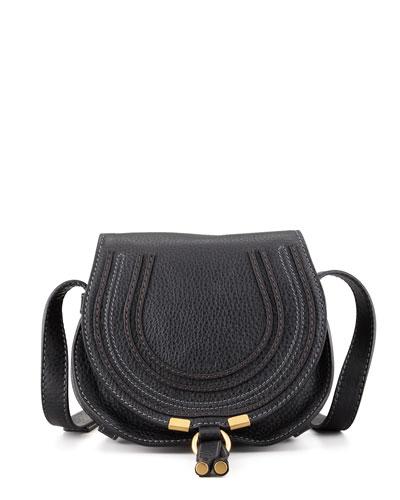 Marcie Small Satchel Bag, Black
