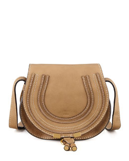 Chloe Marcie Small Satchel Bag, Tan