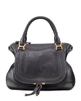 Chloe Marcie Large Shoulder Bag, Black