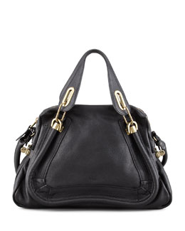 Chloe Paraty Medium Shopper Bag, Black