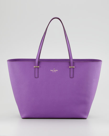 cedar street medium harmony tote bag, violet