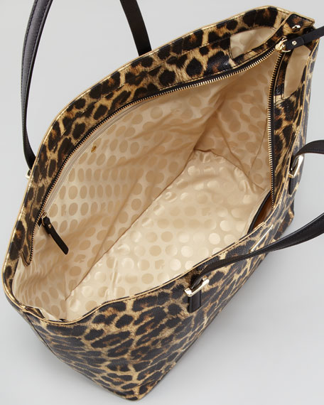 Cedar Street Harmony Medium Tote Bag Leopard Print