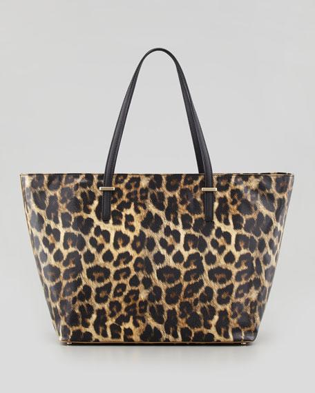 kate spade new york cedar street harmony medium tote bag, leopard print