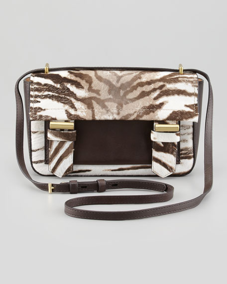 Academy Tiger-Print Calf Hair Crossbody Bag