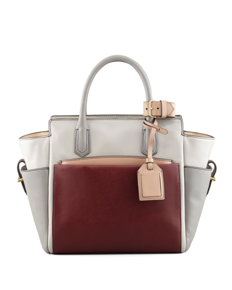 Atlantique Mini Tote Bag, Gray/Auburn