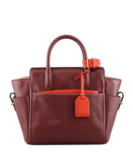 Atlantique Mini Tote Bag, Auburn