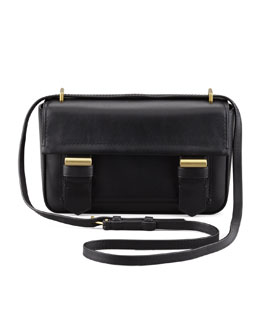 Reed Krakoff Academy Leather Crossbody Bag, Black