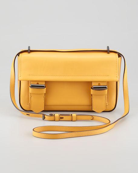 Academy Leather Crossbody Bag, Glow