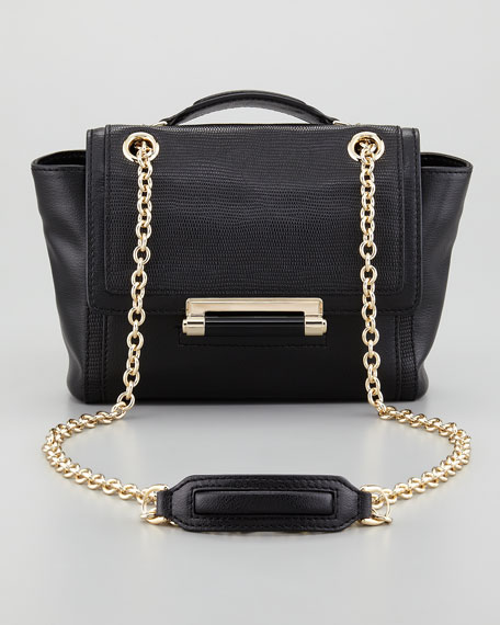 440 Mini Flap-Top Crossbody Bag, Black