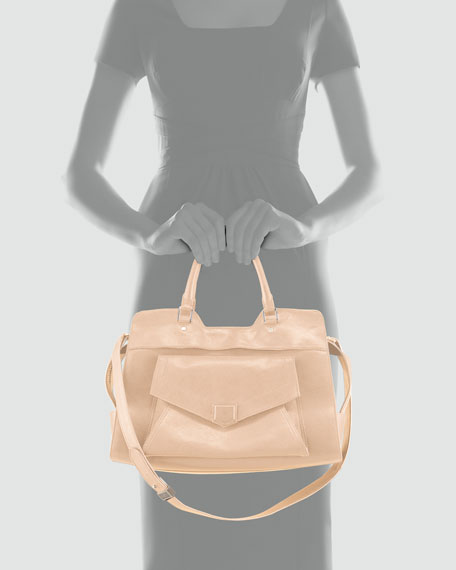 PS13 Small Shoulder Bag, Taupe