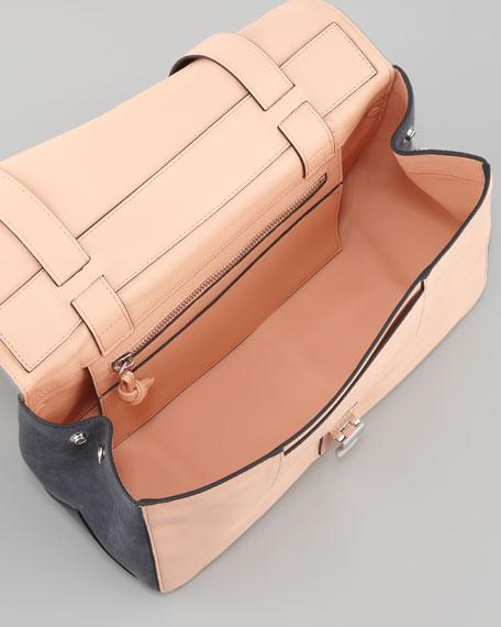PS Courier Shoulder Bag, Gray/Pink