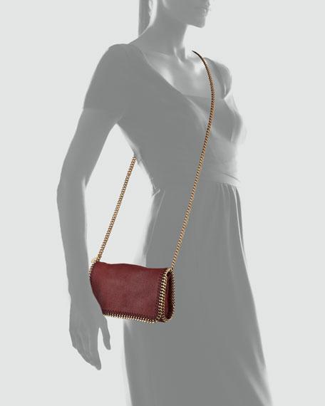 Falabella Small Chain Crossbody Bag, Wine
