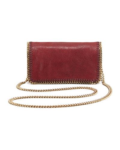 Stella McCartney Falabella Small Chain Crossbody Bag, Wine