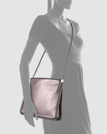 Falabella Medium Metallic Crossbody Bag, Gray