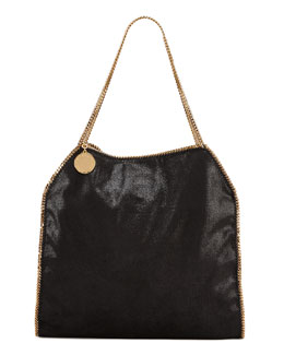 Stella McCartney Shaggy Deer Falabella Bag, Black