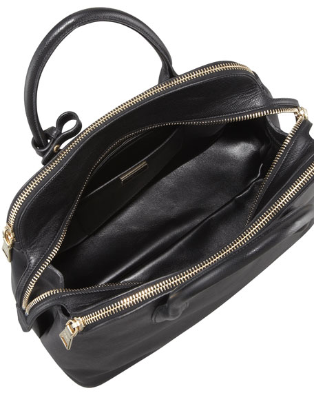 Prada Saffiano Cuir Triple-Zip Dome Tote Bag 9291efa71e