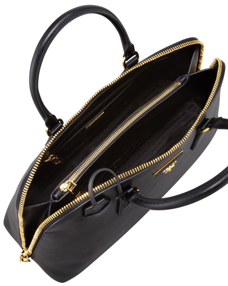 Large Saffiano Promenade Bag, Black