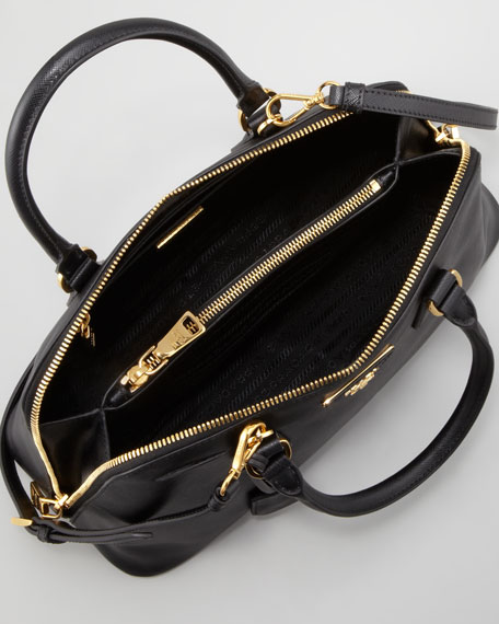 Medium Saffiano Promenade Bag Black (Nero)