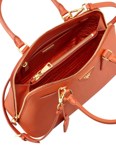 Medium Saffiano Promenade Bag, Orange (Papaya)