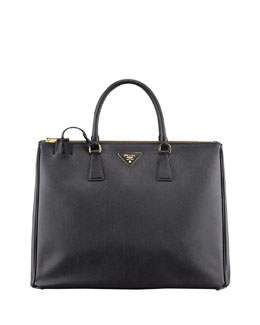 Prada Saffiano Large Executive Tote Bag, Black