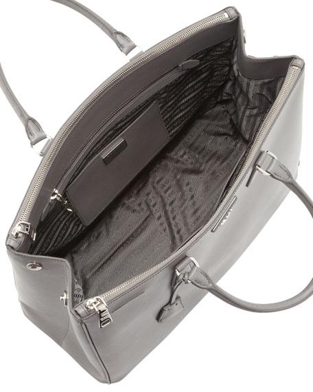 Saffiano Large Executive Tote Bag, Gray (Marmo)