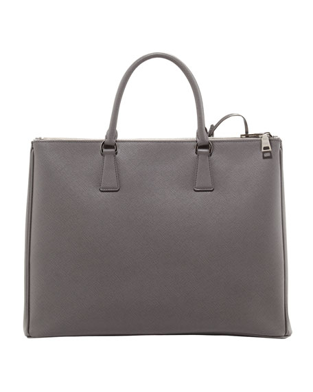 Saffiano Large Executive Tote Bag, Gray (Marmo)