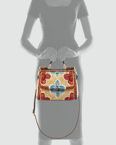 Miss Sicily Small Fiori Mosaic Crossbody Bag