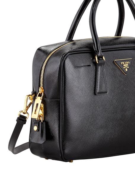 Saffiano Vernice TV Bag, Black