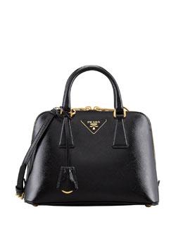 Prada Small Saffiano Promenade Bag, Black (Nero)