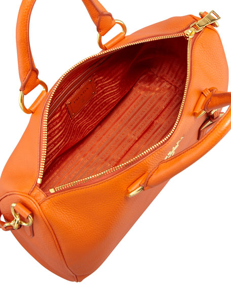 Daino Zip-Top Tote Bag, Orange (Papaya)