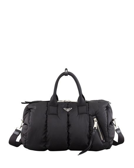 Tessuto Bomber Duffel Bag, Black (Nero)