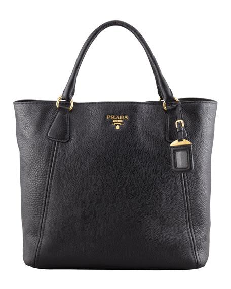 Daino Snap-Top Tote Bag, Black