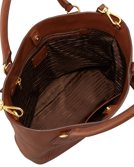 Daino Snap-Top Tote Bag, Brown