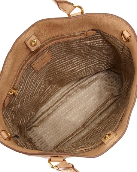 Daino Snap-Top Tote Bag, Beige