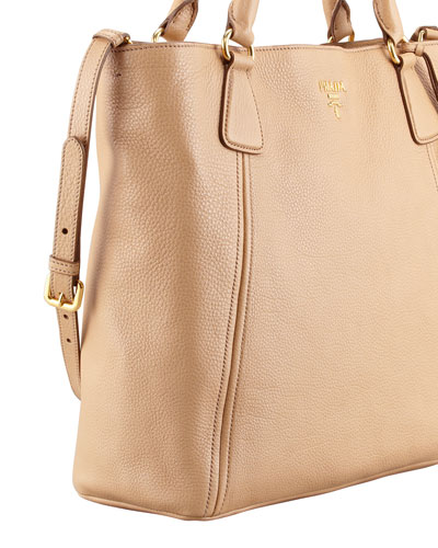 Prada Bag Beige Prada Daino Snap-top Tote Bag