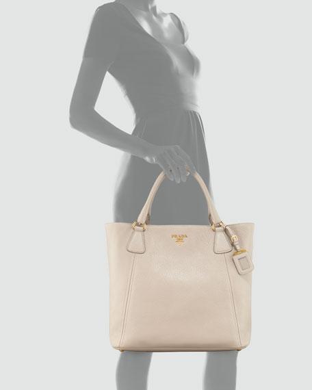 Daino Snap-Top Tote Bag, Light Gray