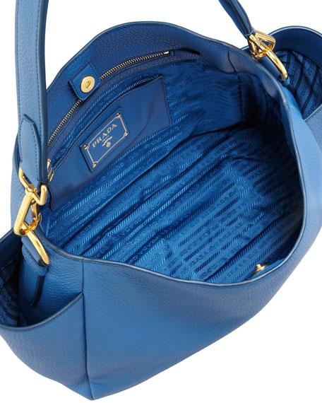 Daino Double-Pocket Hobo Bag, Blue
