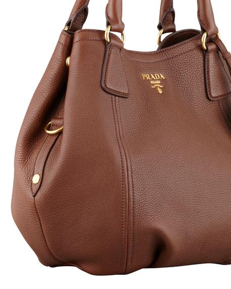 Daino Shoulder Tote Bag, Brown (Palissandro)