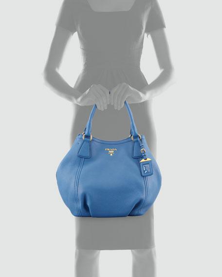 Daino Shoulder Tote Bag, Blue (Cobalto)