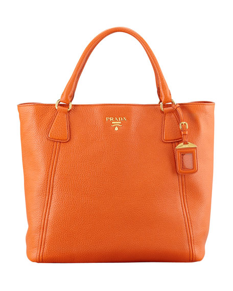 Daino Snap-Top Tote Bag, Orange